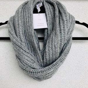 Lauren Conrad Silver Shine Knit Infinity Scarf